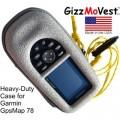 Capa Protetora Rígida e Resistente  para  Garmin GPSMAP 78 - GizzMoVest - Cinza