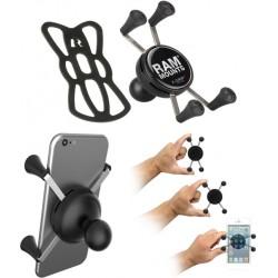 RAM-HOL-UN7BU - Case Universal X-Grip p/ Smartphones Pequenos
